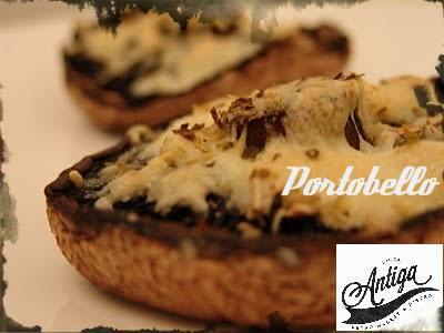 cogumelo Portobello e queijo